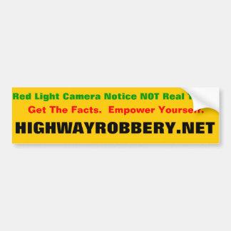 Red Light Ticket Bumper Sticker