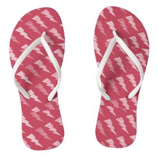 Red Lightening Flip Flops