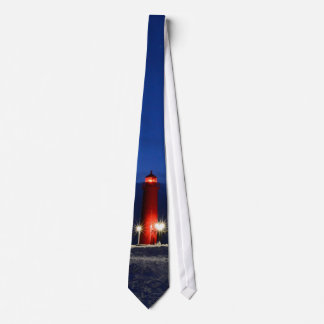 RED LIGHTHOUSE TIE