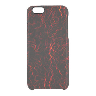 Red lightning clear iPhone 6/6S case