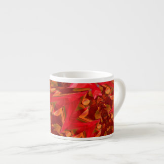 Red Lightning Digital Art Espresso Cup