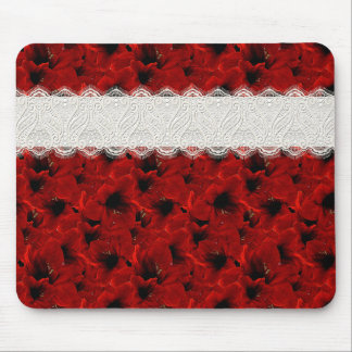 Red Lilies Mouse Pad