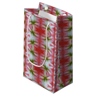 red lily flower gift bag