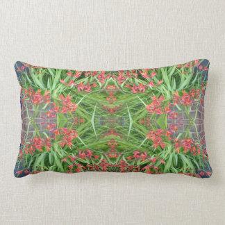 Red Lily Flower Photo Fractal 1 Lumbar Pillow