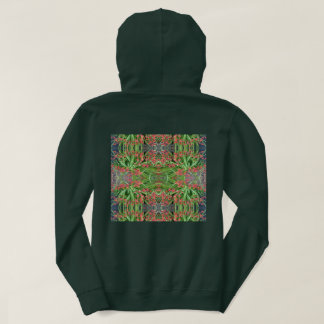 Red Lily Fractal 1 Hoodie (Forest Green)