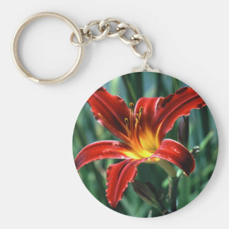 Red Lily Key Chain
