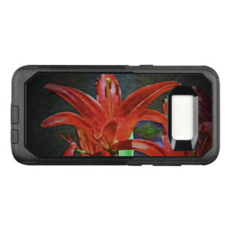 Red Lily-Textured by Shirley Taylor OtterBox Commuter Samsung Galaxy S8 Case
