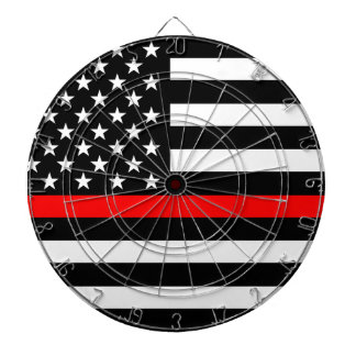 Red Line US Flag Dartboard