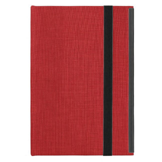 Red Linen Texture Photo Cover For iPad Mini