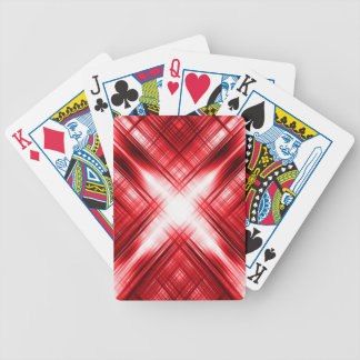 Red lines cross bicycle playing cards