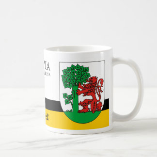 Red Lion & Green Tree from Liepaja Latvia Coffee Mug