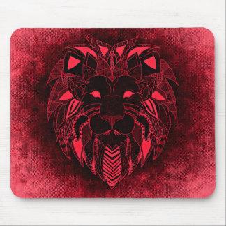 Red Lion mousepad on denim