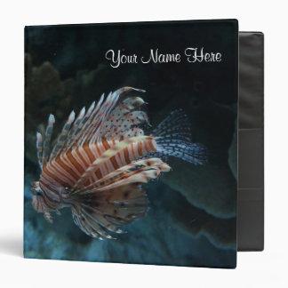 Red Lionfish & Name Binder