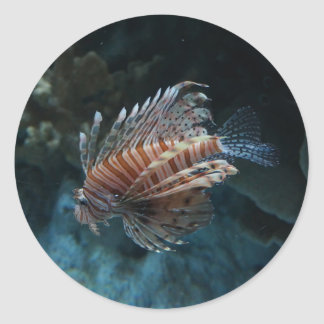 Red Lionfish Stickers