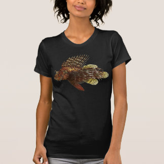 Red Lionfish Vintage Print T-Shirt