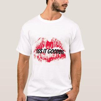 Red lip kiss it goodbye t-shirt