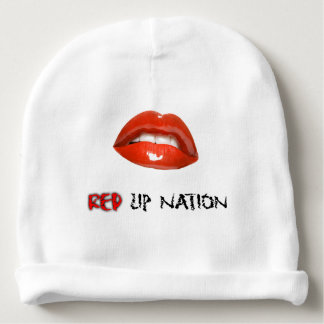 Red Lip Nation Baby Cotton Beanie Baby Beanie