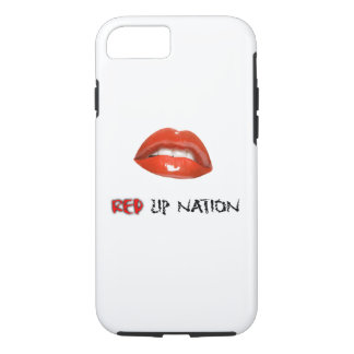 Red Lip Nation iPhone 7, Tough iPhone 7 Case