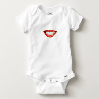 Red lips baby onesie