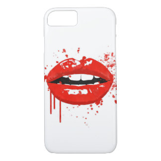 Red lips beauty fashion makeup kiss Case-Mate iPhone case