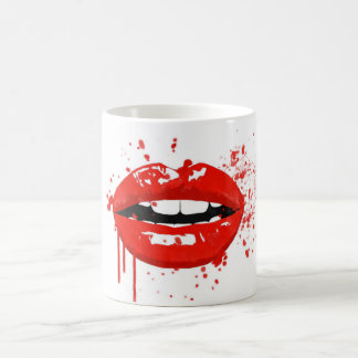 Red lips beauty makeup kiss fashion coffee mug