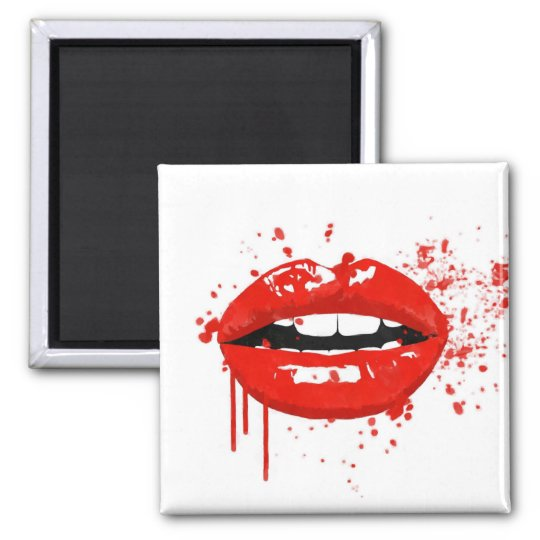 Red lips beauty makeup kiss fashion magnet