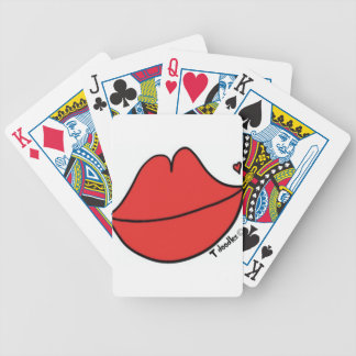Red Lips Bicycle Playing Cards