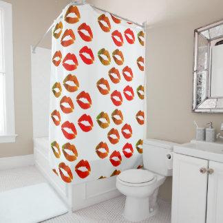 Red Lips Custom   Shower Curtain