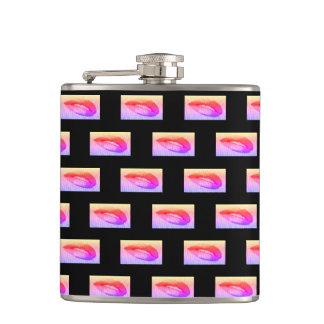 Red Lips Hip Flask