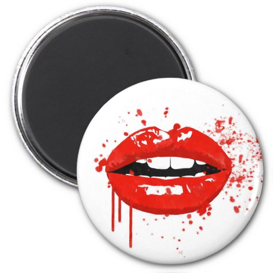 Red lips kiss beauty makeup fashion magnet