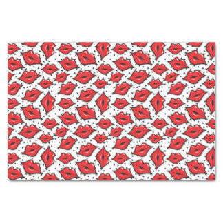 Red Lips Kiss Lipstick & Beauty Supply Distributor Tissue Paper