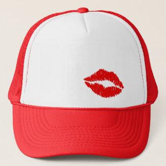 Red Lips Kiss Trucker Hat