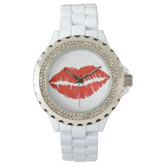 Red Lips Lip Lipstick Kiss Valentine's Day Watch