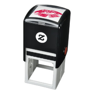 Red Lips On White Background Self-inking Stamp