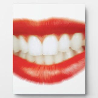 Red lips plaque