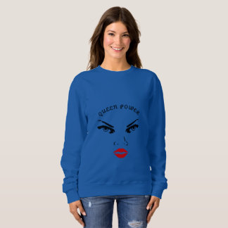 Red Lips Queen Power Sweatshirt