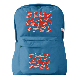 Red Lips ready to kiss Backpack