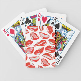 Red Lips ready to kiss Bicycle Playing Cards