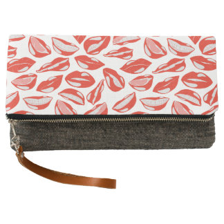 Red Lips ready to kiss Clutch