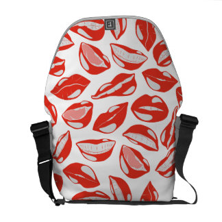 Red Lips ready to kiss Commuter Bags