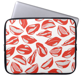 Red Lips ready to kiss Computer Sleeve