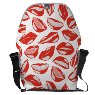 Red Lips ready to kiss Courier Bag