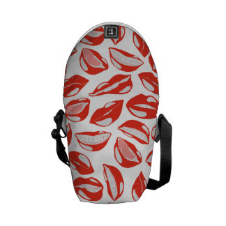 Red Lips ready to kiss Courier Bags