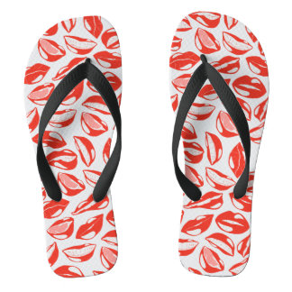 Red Lips ready to kiss Flip Flops