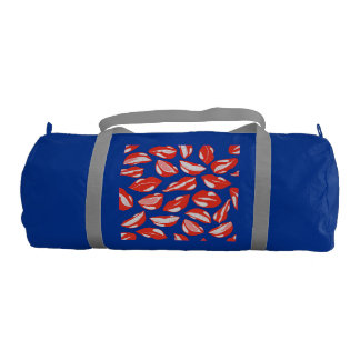 Red Lips ready to kiss Gym Bag