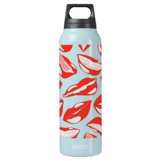 Red Lips ready to kiss Insulated Water Bottle