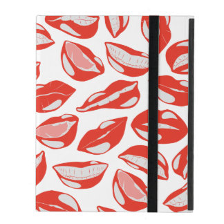 Red Lips ready to kiss iPad Cover