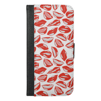 Red Lips ready to kiss iPhone 6/6s Plus Wallet Case