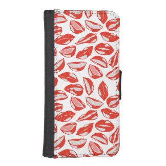 Red Lips ready to kiss iPhone SE/5/5s Wallet Case