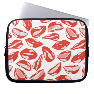 Red Lips ready to kiss Laptop Computer Sleeve